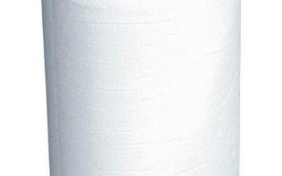 2-laags handdoekrol, wit