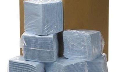 Non-woven poetsdoek, 31×32 cm, 18×56 doeken, blauw