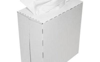Non-woven poetsdoek, 22×40 cm, 10×90 doeken, wit